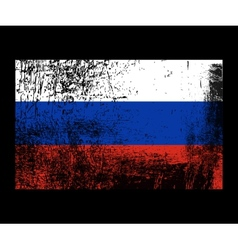 Russia grunge flag vector image