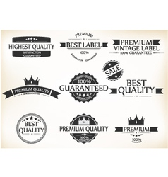 Satisfaction Guarantee Label and Vintage Premium vector image vector image