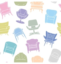 Seamless pattern of armchairs vector image vector image