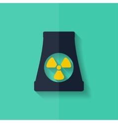 atomic power station icon Flat design vector image