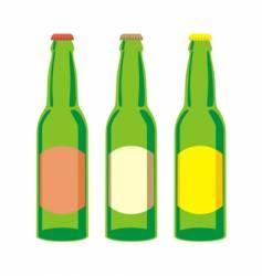 beer bottles set vector image vector image