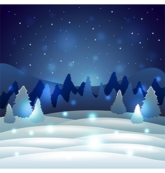 Christmas winter scenery with snowy nature vector