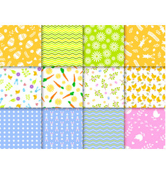 easter seamless pattern background design vector image