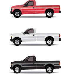 Pick-up trucks vector image vector image