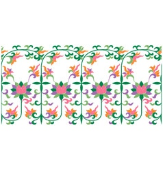 scroll floral pattern vector image vector image