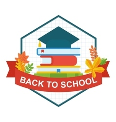back to school university hat logo vector image vector image