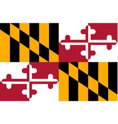 flag of maryland usa vector image