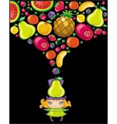 fruity girl vector image vector image