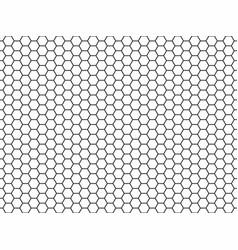 hexagon honeycomb seamless pattern vector image vector image