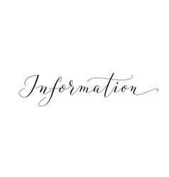 information word hand written custom calligraphy vector image vector image
