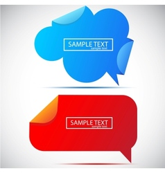paper bubble for speech vector image