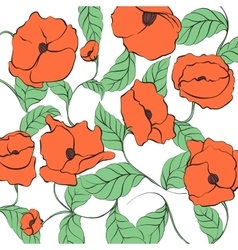 Stylized Poppy vector image vector image