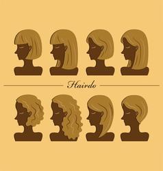 hairdo vector image vector image