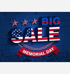 memorial day sale vector image vector image
