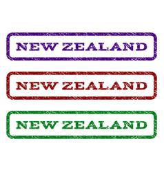 new zealand watermark stamp vector image