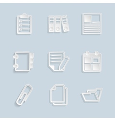 Paper Document Office Icons vector image