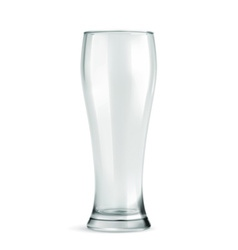 Traditional beer glass empty isolated on w vector image vector image