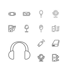 13 portable icons vector