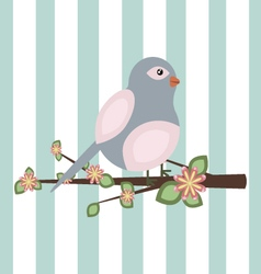 A bird sitting on a branch vector