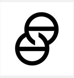 aa initials geometric company logo vector image