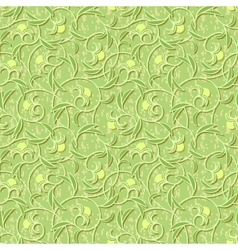 abstract flowers floral light green seamless vector image vector image