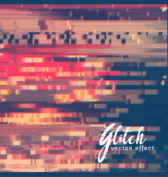 abstract glitch malfunction of image vector image