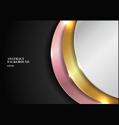 Abstract modern golden silver pink gold circle vector
