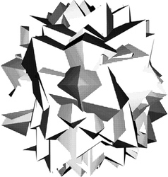 abstract star shape icon in halftone shading vector image
