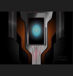 Abstract tech scene design vector
