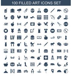 Art icons vector