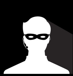 avatar head profile silhouette with shadow call vector image
