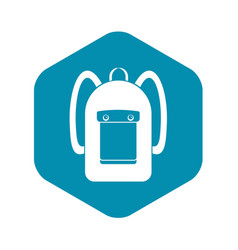 Backpack icon simple style vector
