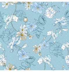 Beautiful Seamless Vintage Floral Background vector