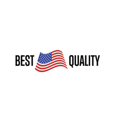 best quality isolated label for usa products vector image