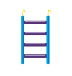 Bird ladder accessory icon in flat style vector