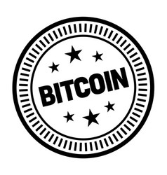 bitcoin stamp on white vector image
