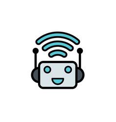 bot flat icon sign symbol vector image