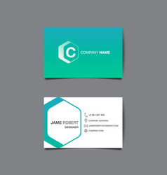 Business name card background vector