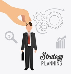 Business strategy design vector image