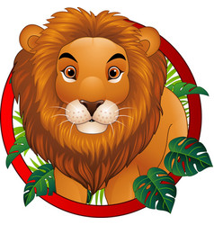 Cartoon lion mascot vector