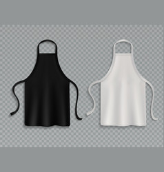 Chef apron black white culinary cloth aprons chef vector