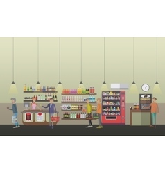 Coffee shop concept in flat vector image