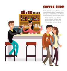 coffee shop concept with take away coffee vector image