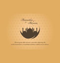 Collection ramadan kareem background style vector