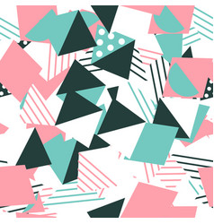 colored geometric seamless pattern background vector image