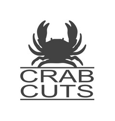 crab seafood vintage icon crab label logo vector image
