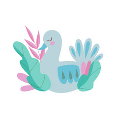 cute nesting bird symbol of spring colorful vector image