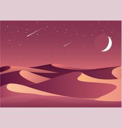 desert night landscape vector image