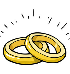 Doodle marriage rings vector