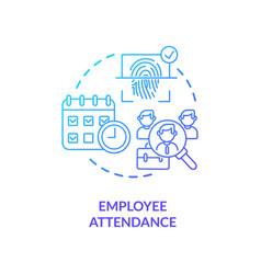 Employee attendance concept icon vector